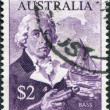 A stamp printed in Australia, shows George Bass, Whaleboat, circa 1966 — Stock Photo