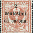 A stamp printed in Italy, shows the Coat of Arms (overprint 1919), circa 1901 — Stock Photo