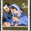 A stamp printed in Australia, is devoted to Christmas, depicts the Holy Family, circa 1965 — Stock Photo #12163177