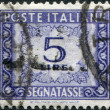 A stamp printed in Italy, shows the value of a postage stamp, circa 1955 — Stock Photo