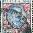 A stamp printed in Italy, shows the King of Italy Victor Emmanuel III, circa 1901 — Stock Photo #12163187