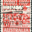 A stamp printed in Australia, is devoted to food production, is depicted Beef, circa 1953 — Foto de Stock