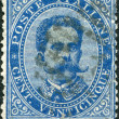 A stamp printed in Italy, shows the King of Italy Umberto I, circa 1879 — Stock Photo