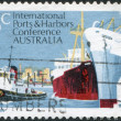 Stock Photo: Stamp printed in Australia, is dedicated to 6th Biennial Conference of International Association of Ports and Harbors, Melbourne