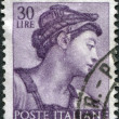 A stamp printed in Italy, shows Designs from Sistine Chapel by Michelangelo, Eritrean Sybil, circa 1961 — Stock Photo #12163284