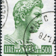 A stamp printed in Italy, shows St. George by Donatello, circa 1957 — Stock Photo