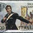 A stamp printed in Italy, shows a national hero in Italy Salvo D'Acquisto, circa 1975 — Stock Photo