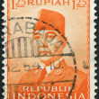 A stamp printed in the Indonesia, shows the first president of Indonesia, Sukarno, circa 1951 — Stock Photo