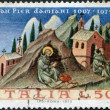 A stamp printed in Italy, shows St. Peter Damian, by Giovanni di Paoli, circa 1972 — Stock Photo