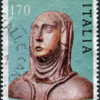 A stamp printed in Italy, shows St. Catherine of Siena, circa 1980 - Stock Photo