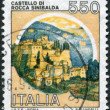 A stamp printed in Italy, shows Rocca Sinibalda, circa 1984 — Stock Photo