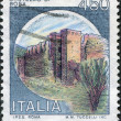 A stamp printed in Italy, is shown Castles Bosa, circa 1980 — Stock Photo