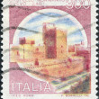 A stamp printed in Italy, shows the Castello Normanno-Svevo (Bari), circa 1980 - Stock Photo