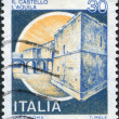 A stamp printed in Italy, shows the L'Aquila Castle, circa 1981 — Stock Photo #12163455