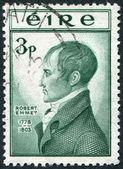 Eine briefmarke, gedruckt in der irland zeigt robert emmet, ca. 1953 — Stockfoto