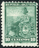 A stamp printed in the Argentina, shows an allegory of Liberty, circa 1899 — Stock Photo