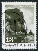 Eine briefmarke gedruckt in bulgarien, zeigt ein kap kaliakra, ca. 1968 — Stockfoto