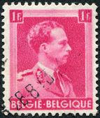 Un sello impreso en bélgica, muestra leopoldo iii de bélgica, circa 1936 — Foto de Stock