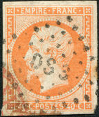 A stamp printed in the French Empire, shows the Emperor Napoleon III, circa 1853 — Стоковое фото