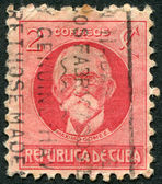 A stamp printed in Cuba, is depicted Maximo Gomez y Baez, circa 1917 — Stock Photo
