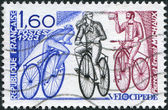 A stamp printed in France, shows Michaux's Bicycle, circa 1983 — Foto de Stock