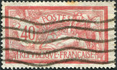 A stamp printed in France, shows an allegory of Liberty and Peace, circa 1900 — Stock Photo