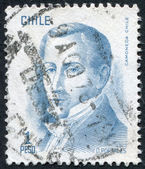 Postage stamps printed in Chile, is depicted Finance Minister Diego Portales, circa 1975 — Stock Photo