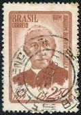 Postage stamps printed in Brazil, dedicated to the 100 th anniversary of Archbishop Joaquim Silverio de Souza, circa 1959 — Stock Photo