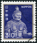 A stamp printed in Japan, depicts King of the West, Komokuten, Todaiji Temple, circa 1981 — Stock Photo