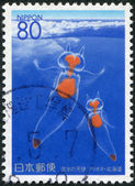 A stamp printed in Japan, prefecture Hokkaido, shows Clione Limancia, circa 1996 — Stock Photo