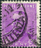 Un timbre imprimé en italie, montre le roi de victor italie emmanuel iii, vers 1928 — Photo
