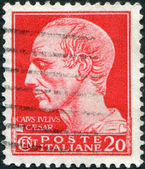A stamp printed in Italy, shows a Julius Caesar, circa 1929 — Stock Photo