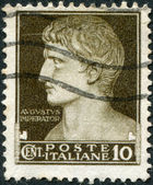 A stamp printed in Italy, shows Augustus Caesar, circa 1929 — Foto de Stock