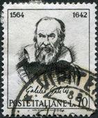 A stamp printed in Italy, shows Galileo Galilei by Guido Reni, circa 1964 — Stockfoto