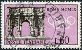A stamp printed in Italy, is dedicated to Olympic Games in Rome, shows the Arch of Constantine, circa 1959 — Stock Photo