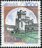 A stamp printed in Italy, shows the Castle of San Zeno, circa 1980 — Stock Photo
