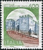 A stamp printed in Italy, shows the Castello dell'Imperatore, circa 1980 — Stock Photo