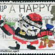 Postage stamps, illustration — Stock Photo