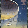 Postage stamps, illustration - Stock Photo