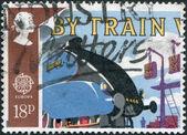 郵便切手の図 — ストック写真