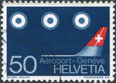 Shows the face value of stamps — Stok fotoğraf