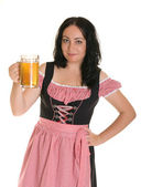 A woman in traditional Bavarian dress - Dirndl. — Stock Photo