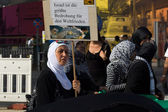 Al-Quds Day. Demonstrations against Israel, and its control of Jerusalem. Solidarity with the Palestinian — Stock Photo