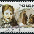 POLAND - CIRC1975: stamp printed in Poland, shows actress HelenModjesk(Modrzejewska) and scene from Shakespeare, circ1975 — Stock Photo #12362385