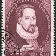 ROMANIA - CIRCA 1982: A stamp printed in the Romania, shows the Miguel de Cervantes Saavedra, circa 1982 — Stock Photo