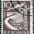 Stock Photo: ROMANI- CIRC1960: stamp printed in Romania, depicts Dam, circ1960