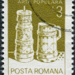 ROMANIA - CIRCA 1982: A stamp printed in the Romania, shows Butter churn, wooden bucket, from Moldavia, circa 1982 — Stock Photo