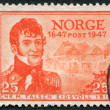 NORWAY - CIRCA 1947: A stamp printed in the Norway — Stock Photo