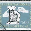 Stock Photo: PORTUGAL - CIRCA 1962: A stamp printed in the Portugal, is dedicated to the 10th International Congress of Pediatrics, circa 1962