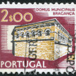 PORTUGAL - CIRCA 1974: A stamp printed in the Portugal, shows the town hall Braganza, circa 1974 — Stock Photo